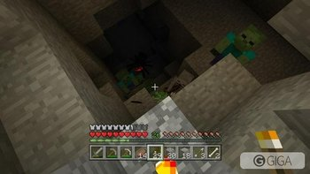 What the fuck is going on in this cave?! #MinecraftPS4 #PS4share http://t.co/x1TjJE9Cn5