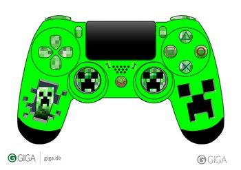 @Follow_the_G #MinecraftPS4So das ist die 2.te vom Controller Das ist die Creeper Version http://t.co/Va8iOaFRNY