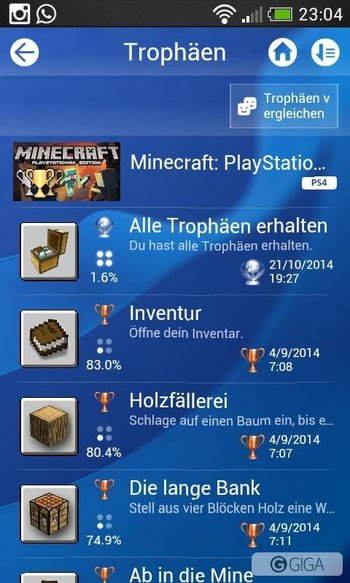 Got today Platin Trophy No.8! #Minecraftps4 #ps4 #psn #playstation #4ThePlayers http://t.co/9zBhfu9GQW