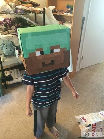 @GeekGirlCon my son will be featuring a new #cosplay Steve from #MinecraftPS4 #MinecraftXbox1 with diamond armor http://t.co/tYbG5MpoJ4