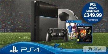 En Reiano Unido lanzarán un pack de #PS4 con #FIFA15 y #MinecraftPS4 http://t.co/12Yo8Jd9jM