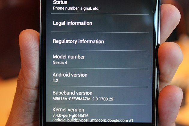 Nexus 4 by Techcrunch - Systeminfo