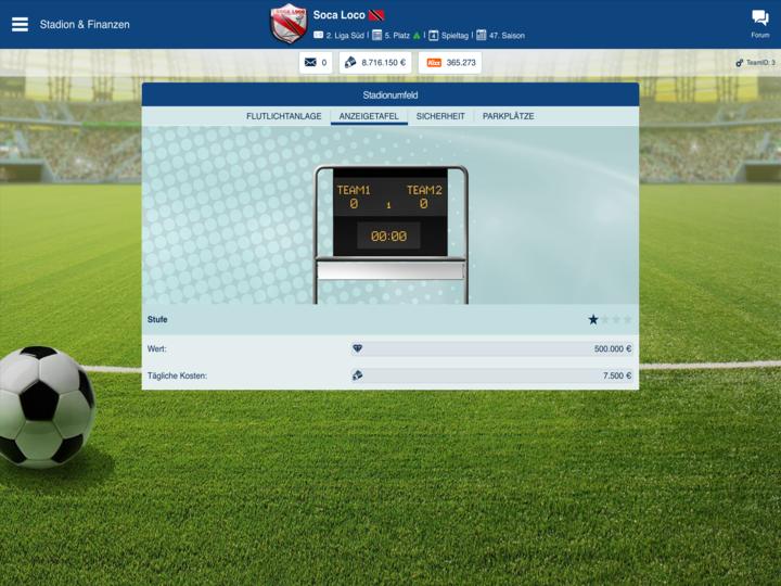 ofm - browsergame online fussball manager - spiele fußlig