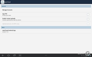 ownCloud für Android Screenshot 1