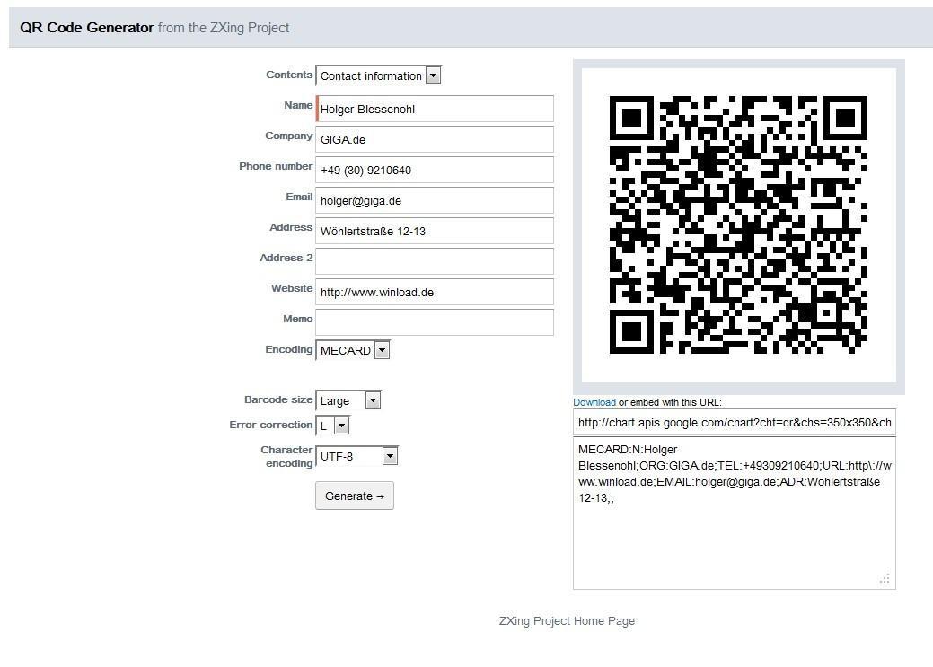 Qr Code Erstellen Kostenlos Online Mit Generator Giga