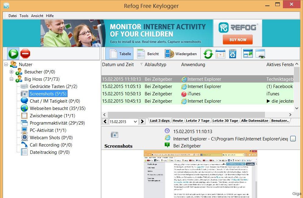 Refog Free Keylogger Download