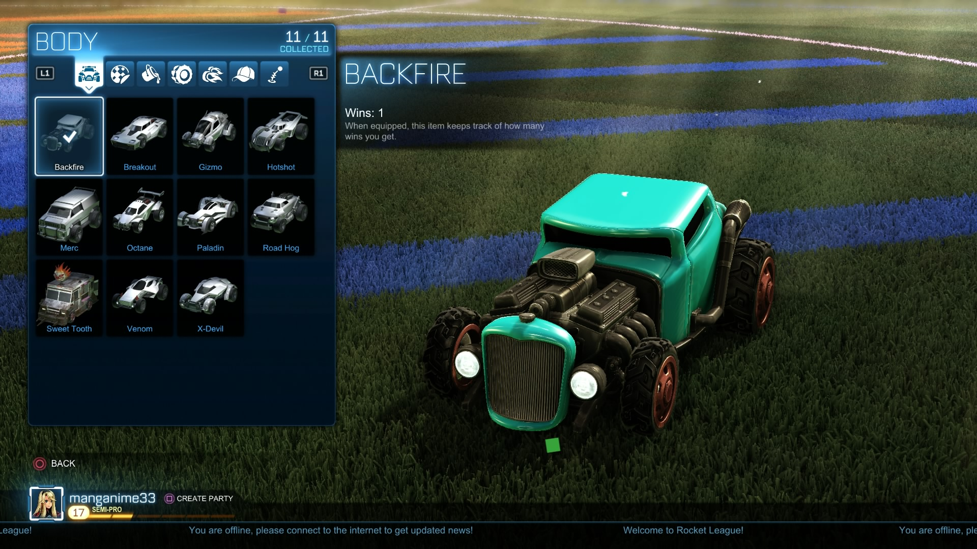 rocket league letztes auto freischalten