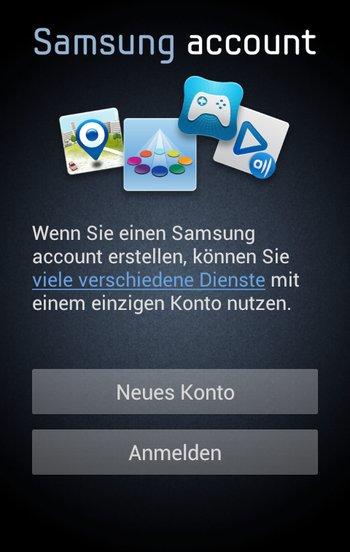 Samsung App Market App Konto erstellen