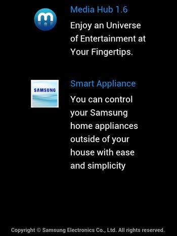 Diese Dienste können mit einem Samsung Konto genutzt werden