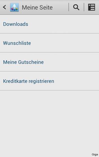 Samsung App Market - Apps kaufen nur mit Kreditkarte möglich