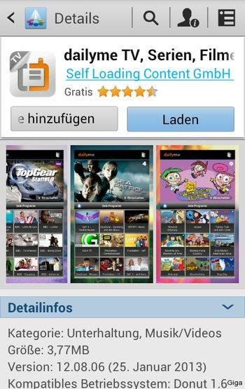 Samsung App Market - Auch bekannte Apps sind hier vertreten