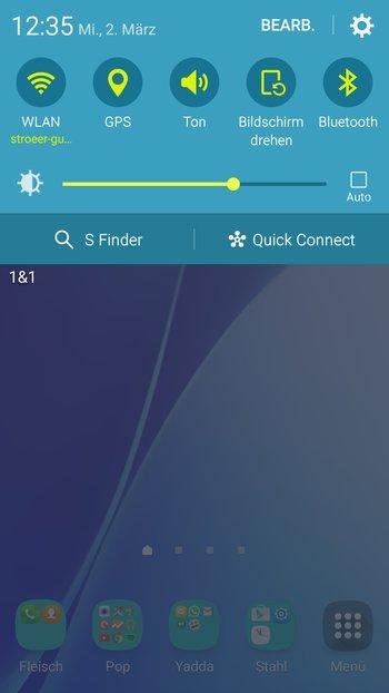 Samsung Galaxy A5: Benachrichtigungsleiste