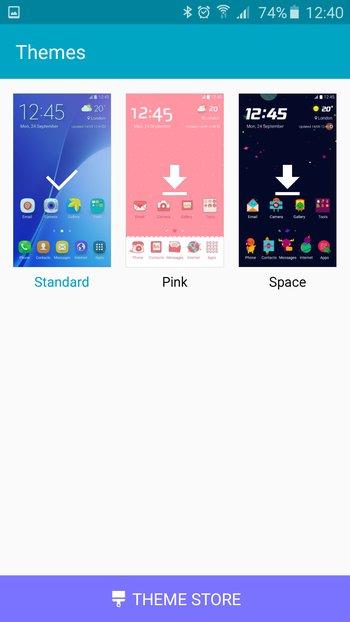 Samsung Galaxy A5: Theme-App