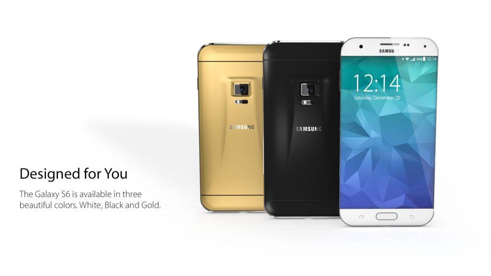 Samsung Galaxy S6 Konzept Gross Amp Klein Mit Iris