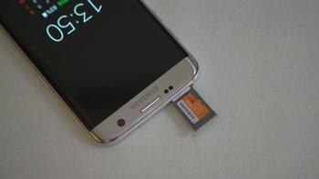 Samsung Galaxy S7 edge: micro SD-Kartenslot