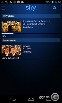 Sky Go für Android (UK)