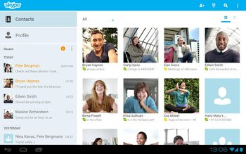 Skype fuer Android Kontakte