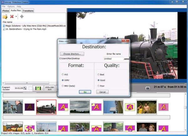 Mit Slideshow Creator eine Slideshow als Video speichern