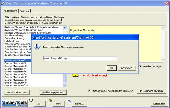 SmartTools Musterbrief-Assistent für Word Download kostenlos - GIGA