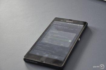 Sony Xperia Z - An Lichtverhältnisse angepasst