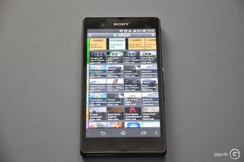 Sony Xperia Z - Nicht an Lichtverhältnisse angepasst