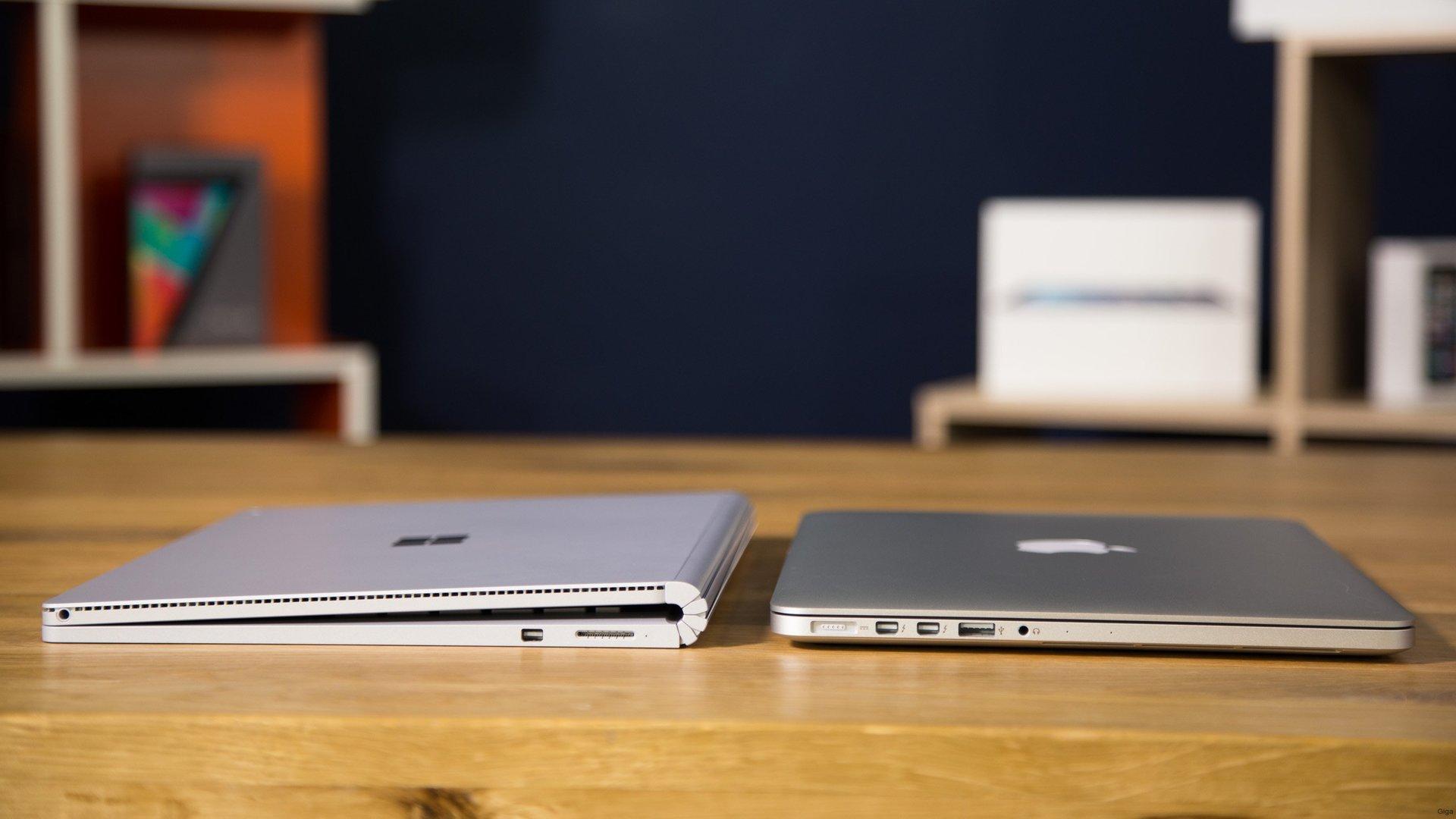 surface book vs macbook pro im vergleich giga. Black Bedroom Furniture Sets. Home Design Ideas