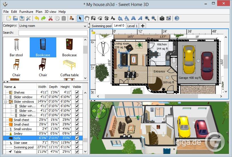 Grundriss zeichnen am PC mit kostenloser Freeware