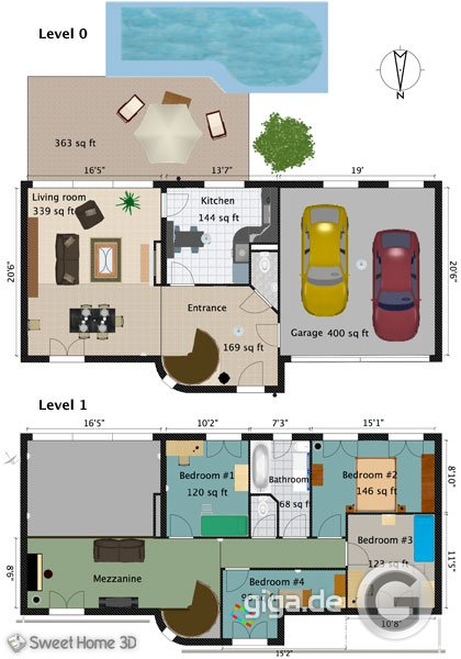 Plan Villa Sweet Home D