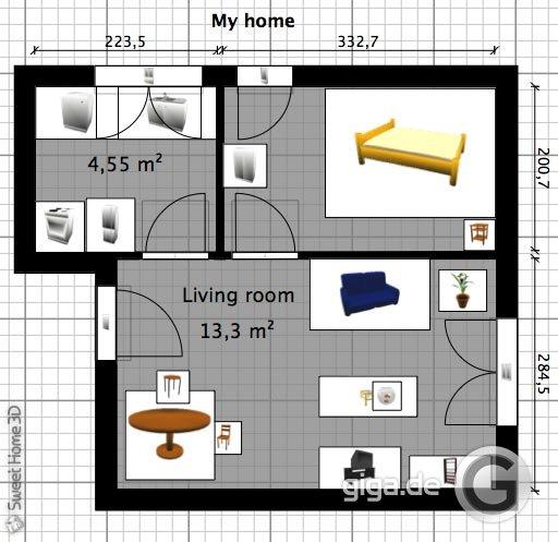 grundriss zeichnen am pc kostenloses programm macht es m glich giga. Black Bedroom Furniture Sets. Home Design Ideas