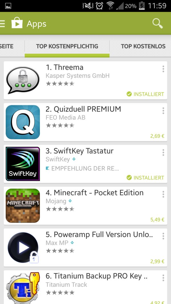 Play Store Laden