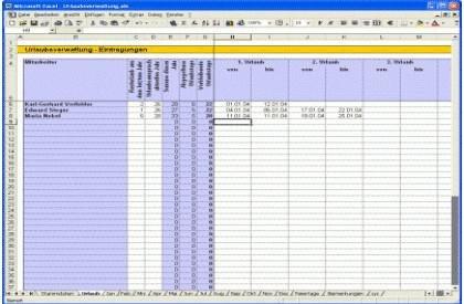 download-tunesoft-excel-urlaubsplaner-screenshot