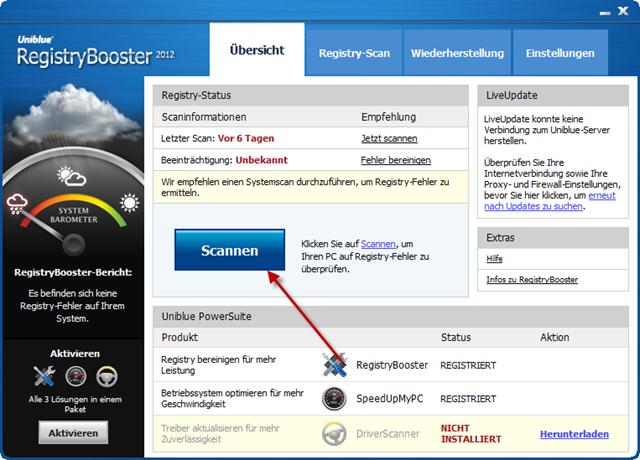 Uniblue RegistryBooster 2010 4.7.1.1 Software + Serial Keys 4.71 MB
