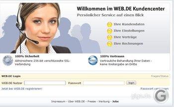 Im Web.de Kundencenter einloggen