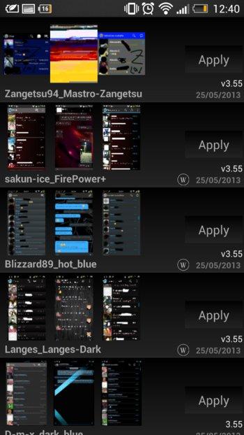 WhatsApp+ - Sehr viele Designs möglich