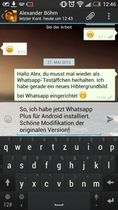WhatsApp+ ist eine Modifikation der originalen Whatsapp Version