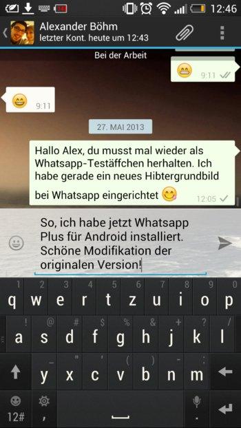 WhatsApp+ ist eine Modifikation der originalen Whatsapp Version