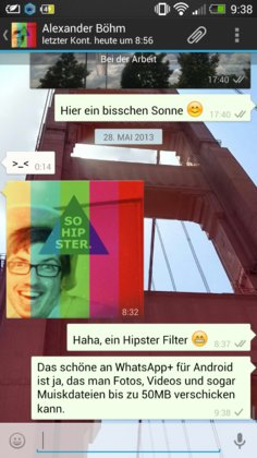 WhatsApp+ - Fotos in Originalgröße, Videos bis 50 MB hochladen