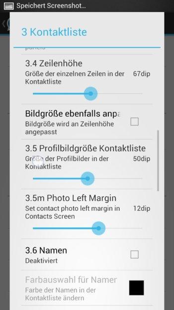 WhatsApp+ - Die Kontaktliste kann völlig verändert werden