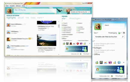 windows live messenger screen