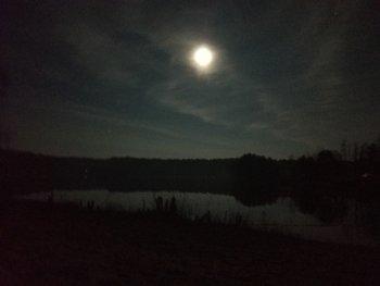 Eine Nachtaufnahme bei nahezu völliger Dunkelheit. (ISO 800)