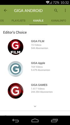 YouTube 6.0 für Android
