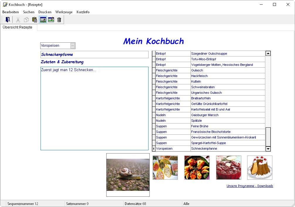 rezeptdatenbank freeware