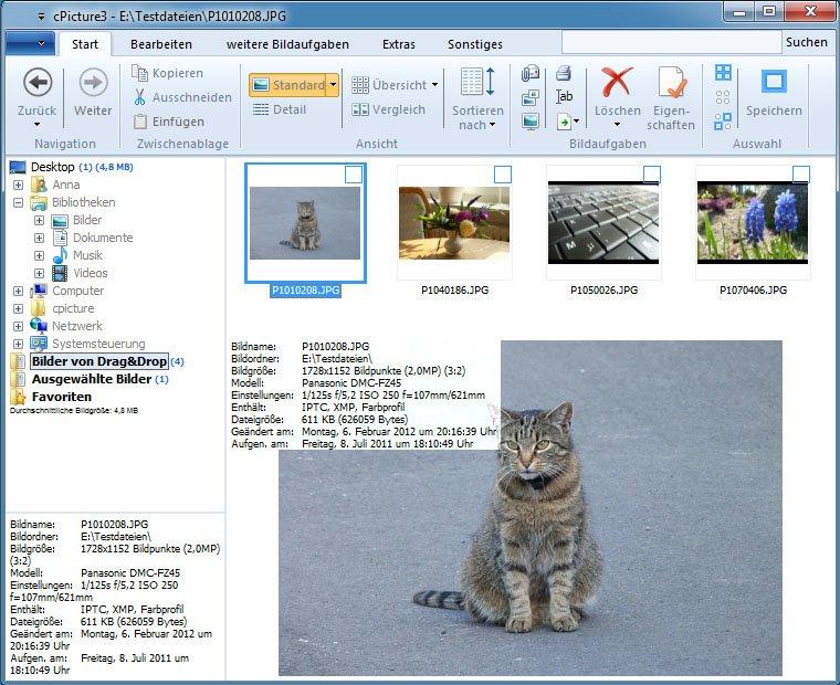 cPicture ist Bildbetrachter und Bildbearbeiter in einem.