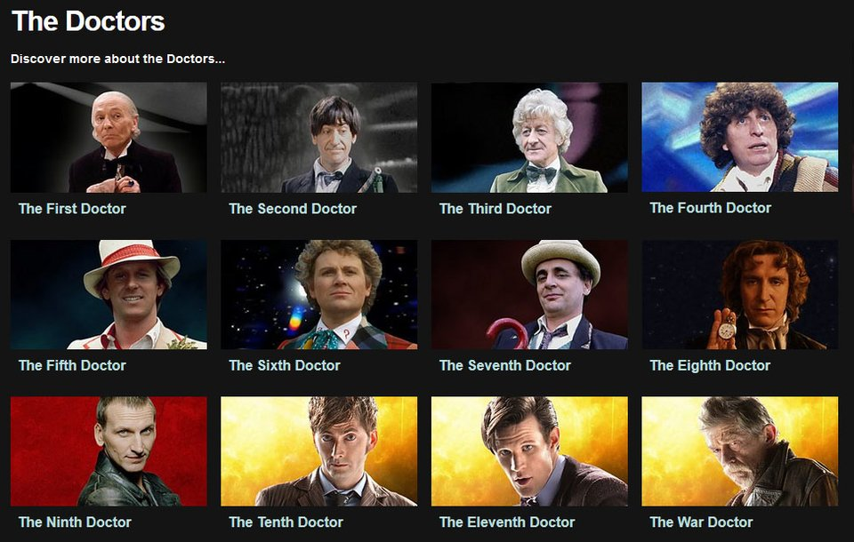 Mittlerweile gibt es mehrere Doctor-Who-Inkarnationen.
