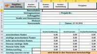 HOAI Berechnungen in Excel