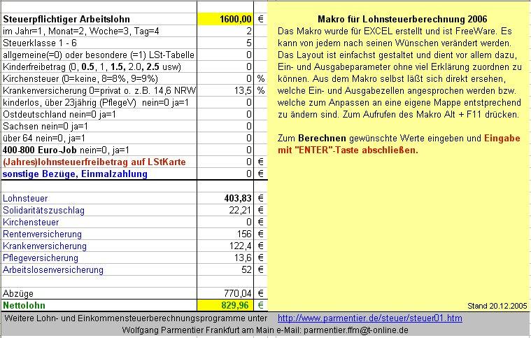 Brutto Nettolohn Berechnen : zeiterfassung und brutto netto rechner download giga ~ Themetempest.com Abrechnung