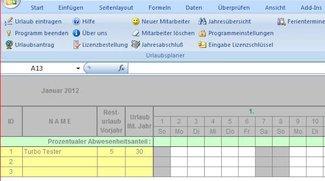 Excel-Urlaubsplan Free