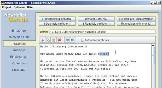 Newsletter Genius versendet automatisiert Serien-Mails und Newsletter an mehrere Empfänger.