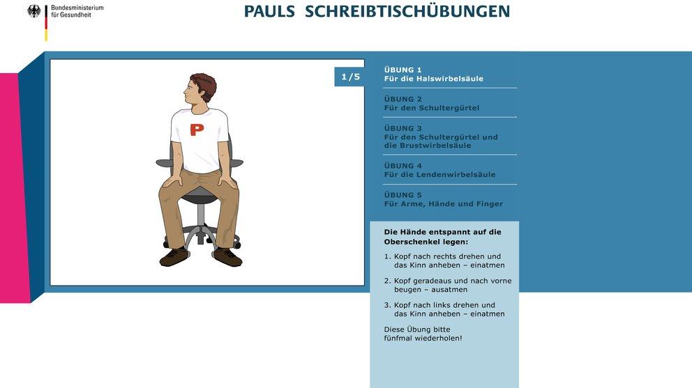 Pauls-Schreibtischübungen
