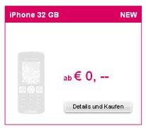 T-Mobile AT: Werbung für 32GB-iPhone